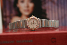 Omega Constellation 22.5mm 1378.74 18kt Rose Oro & Steel Diamond Dial 9.5/10