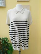 Mercer & Madison linen striped collared jumper XL/16 bnwt