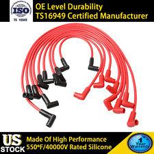 8mm Spark Plug Wire Set Kit Fit Super Stock Color Red V8 5.7L High Performance