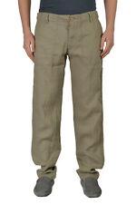 Armani Jeans Men's Beige 100% Linen Casual Pants Sz US 32 IT 48