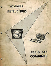 COCKSHUTT 535 545  COMBINE ASSEMBLY  MANUAL
