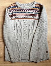 Holmes & Co Nordic Men's Sweater Jumper Extra Large Beige Winter Thick Christmas
