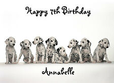 Personalised A5 Dalmation Puppies Birthday Card Any Age Relation Daughter Sister