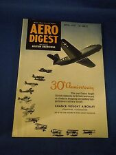 Vintage April 1947 Aero Digest Magazine 30th Anniversary Chance Vought Aircraft