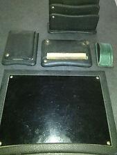 Set da scrivania pelle/leather Modernariato 50/60