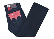NEW LEVIS TYPE 1 MEN'S ICONIC STRAIGHT VINTAGE WASH BLUE DENIM JEANS size 31x34
