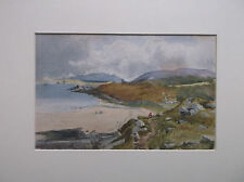 VICTORIAN WATERCOLOUR PAINTING A BEAUTIFUL STUDY OF THE WELSH COASTLINE