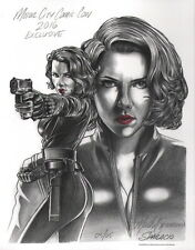 Mark Sparacio SIGNED Original Scarlett Johansson Black Widow Art Print AVENGERS