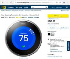 Nest Learning Thermostat! *NEW* T3007ES 854448003877 3rd Generation | MSRP: $249