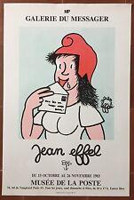 Affiche Exposition JEAN EFFEL Galerie du Messager Musée de la Poste 1986 *