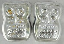 "3D Owl - Baking Chocolate Candy Soap Mold - 4"" - Metal Material"