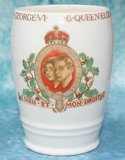 Bristol Pountney Commemorative Coronation Mug King George VIth Queen Elizabeth