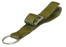 Ex-Army Belt Loop With Metal D-Ring & Buckle heavy duty polyester strap webbing