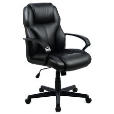 PU Leather Ergonomic High Back Executive Computer Desk Task Office Chair Black