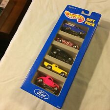 Hot Wheels 1993 FORD 5 Car Gift Pack 1:64 Bronco T-Bird 34 3-window thunderbird