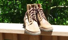 US USMC Marine WW2 BOONDOCKERS ROUGHOUT LEATHER COMBAT BOOTS Shoes RARE