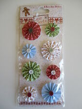 DEAR SANTA ACCORDIAN STICKERS Christmas flowers