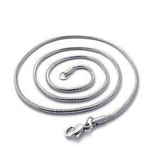 """Fashion Jewelry Stainless Steel Unisex Snake Necklace 24"""" Link 3MM Lucky Chain"""