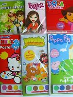 CHARACTER A4 POSTER ART SETS (with 6 Paints){fixed £1 UK p&p}