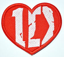 BIG 10 inch ~ ONE DIRECTION 100% Love You Music Band Embroidered Iron On patch