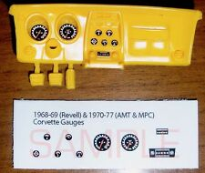 1968 to 1977 CORVETTE GAUGE FACES! - for 1/25 scale REVELL AMT and MPC KITS