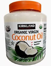 Kirkland Organic Virgin Coconut Oil Unrefined Cold Pressed & Chemical Free 84 Oz