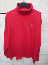 T-Shirt LACOSTE Devanlay made in France col roulé manches longues rouge 6