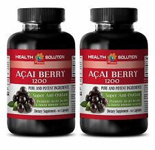 Immune boost - ACAI BERRY 1200 SUPER ANTIOXIDANT - Anti aging products 2Bottles
