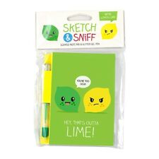 Smencils Lemon & Lime Sketch and Sniff Pad - Scented Note Pad & Pen