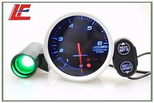 "3.15"" 80 mm Tachometer RPM gauge Blue led Model 0-6000 RPM Red & Green warning"