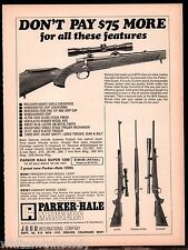 1969 PARKER-HALE Super 1200 Rifle AD shown w/ Presentation & Varmint Models