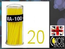 Swab Micro Brush Disposable Microbrush Applicators Eyelash Extensions Yellow UK
