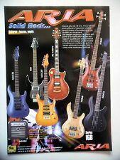 PUBLICITE-ADVERTISING :  Guitares ARIA MAC35,HSII,PE-ANNIV,Series IGB  10/2002