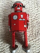 NOS Walking Tin ROBOT WIND UP JAPAN Space Fantasy advertising vintage