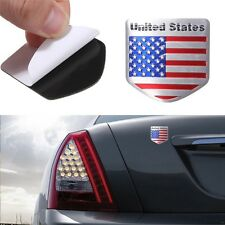 US USA American Flag Metal Auto Refitting Car Badge Emblem Decal Sticker #T