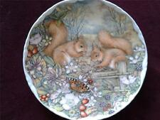 ROYAL ALBERT SQUIRRELS ENJOYING AUTUMN FRIUT PLATE COUNTRYSIDE FRIENDS SERIES