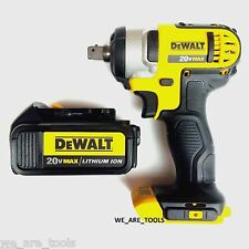 "New Dewalt 20V DCF880 Cordless 1/2"" Impact Wrench,(1) DCB200 3.0 Battery 20 Volt"