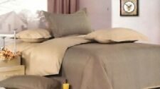 100% COTTON Mocca Brown 250 TC CHIC QUEEN QUILT COVER DUVET SET+2 PILLOWCASES