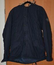 Ralph Lauren para hombre, azul marino, imitación piel con capucha, chaqueta de invierno, Cálido Abrigo/, talla L