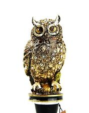 JAY STRONGWATER HECTOR OWL WINE STOPPER & STAND SWAROVSKI NEW ORIGINAL BOX