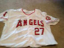 Mike Trout White Los Angles Angels Jersey Size 50 Everything Is Sewn On
