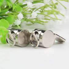 2xSoccer Sport Metal Referee Whistle School Football Party Toys Keychain Whistle