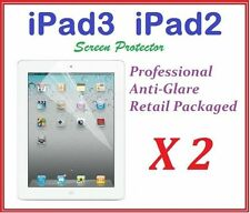 The New iPad3 iPad2 Ultra Clear LCD Screen Protector Anti Glare Film X 2