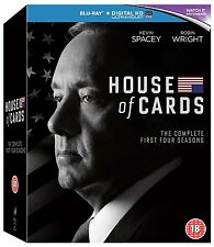 House Of Cards: Seasons 1-4 [Blu-ray] [Region Free] [Season 1 2 3 4] ✔NEW✔