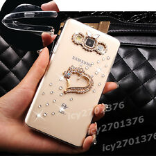 NEW Shine Bling Clear Crystal Gem Diamonds Back TPU soft shell Case Cover Skin #