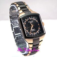 Omax Waterproof Brown & Rose Gold Pl Sports Lk Stainless Steel Mens Watch HE0011