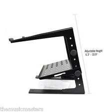 Laptop Notebook Flat Foot DJ STAND with Shelf Presentation Riser Table Holder