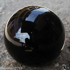 AAA HOT SELL NATURAL OBSIDIAN POLISHED BLACK CRYSTAL SPHERE BALL 40MM +STAND r9