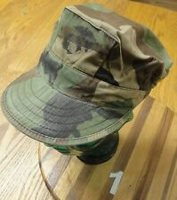 US ARMY CAMOUFLAGE CAP CLASS I WOODLANDS CAMO SIZE X-SMALL VERY GOOD CONDITION