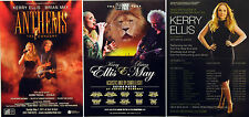 6 X KERRY ELLIS TOUR FLYERS - BRIAN MAY (QUEEN) ANTHEMS - BORN FREE ETC